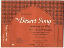 Easy-to-Play Piano - 5 Selections from THE DESERT Song - Sheet Music Booklet