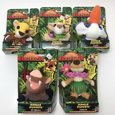 NEW 1994 Disney THE LION KING Jungle Finger Puppets Collection of 5 NIB