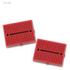2x Breadboard Experimentierbrett ROT Laborsteckboard Steckplatine Platine