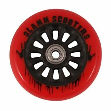Slamm Ny Core 100mm 88A + Kugellager Stuntscooter Rollen Black / Pu red