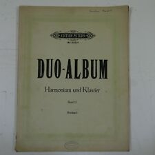DUO ALBUM for harmonium & piano , band 2 , peters 2911b , arr reinhard