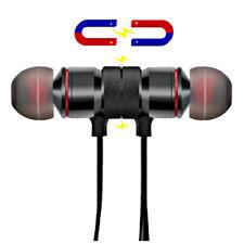 Magnetic Wireless Bluetooth Earphones Headphones with Mic Sports Gym Running UK
