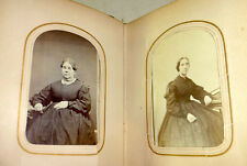 1880s old photo album with 39 images, CDVs and tintypes; men, women, New York