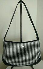 Oroton Australia Womens Black Leather & Herringbone Shoulder Bag / Purse EUC!!!