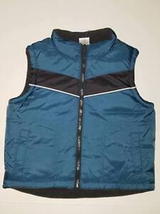 NWT Gymboree Blue Black Puffer Vest 12-24 mos