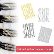 Fashion Nail Art Sticker  Gold Metal Stripe Line Tape Self-Adhesive Transfe
