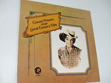 """CONNIE FRANCIS Sings Great Country Hits . 12"""" 33 rpm LP Record . 1962 . Country"""