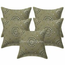 """Ethnic Sofa Cushion Cover Abstract Embroidery Decorative Pillow Cover 16"""" Throw"""