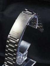 Alpha logo 20mm heavy duty stainless steel band bracelet fit Speedmaster watch