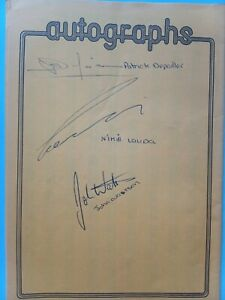 Niki Lauda, John Watson, Patrick Depailler autographs 1977 Silverstone F1 GP