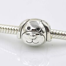 LOVE MY DEVOTED PUPPY DOG  Sterling Silver European Charm Bead