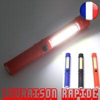 LED Mini Stylo Multifonction Torche Lumière COB Poignée Travail Lampe Aimant