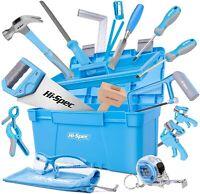 25 Pc Carpenter Tool Set Beginners Home Woodworking Hand Tools Storage Box Kit