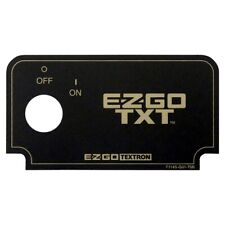 Ezgo Golf Cart Dash Key Switch Name Plate Black and Gold