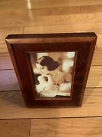 Vintage Wood Picture Frame Glassed 6x8 and 3.5x5.5 Inches