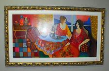 ITZCHAK TARKAY, Monica & Louise, 28/50 Serigraph on Canvas, hand signed
