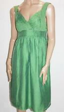 SZABO Designer Vintage Green Chiffon Day Dress Size S BNWT #SY44