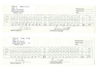 Lot of 2 PGA Golf Scorecards Pro: Terry Dill Transamerica Tournament Autograph