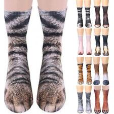 Funny Unisex Adult/Kids Elastic Sock Animal Paw Feet Crew 3D Print Foot Socks TK