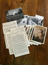 Paper Ephemera Lot 16 Pieces Includes Pictures of Churches, Angel Postcards and