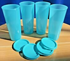 Tupperware Tumblers set of 4 - 16 oz Tumbler Set w/ seals Blue New