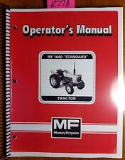 Massey Ferguson Mf 1040 Standard Compact Tractor Operator Manual 1449 136 M3 86