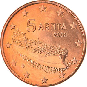 [#819902] Grèce, 5 Euro Cent, 2002, Athènes, FDC, Copper Plated Steel, KM:183