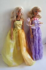 Two, Mattel, Barbie, Dolls, In, Ball Gowns, With, Barbie Necklaces, Toy, Figures