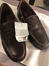 Sperry Top Sider Seaport Loafer Collection Mens 12 M Penny Slip On Dark Brown