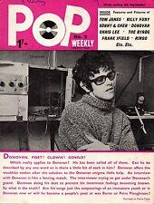 Pop Weekly Magazine 4 September 1965  Donovan  Tom Jones  Ringo Starr Billy Fury