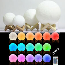 3d Magical Moon Lamp LED Night Light Moonlight Sensor Remote Control Dimmable