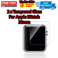 2 X Premium Tempered Glass For Apple Watch 38mm Free Shipping From Melbourne NEW