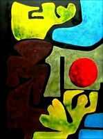 Quality Hand Painted Oil Painting Repro Paul Klee Park of Idols 30x40in