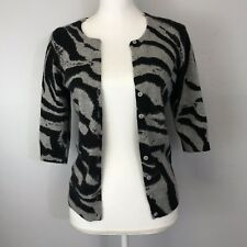 Cashmere By Bloomingdales Size Small 100% Cashmere Animal Print Cardigan