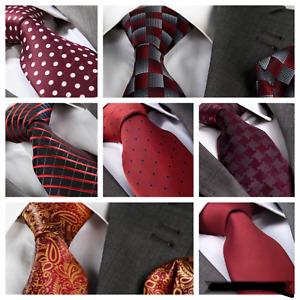 Italian Designer Milano Exclusive Burgundy Dark Red Silk Tie (& Hanky)