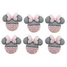 Disney Minnie Mouse Buttons - Dress it Up Baby Minnie - Baby Shower - Pink Grey