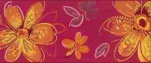 Girls Floral Wallpaper Border Candice Olson Pink Daisies CK7701 FREE Ship