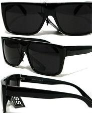 Flat Top Sunglasses Super Dark Lens Black old school1980's Style