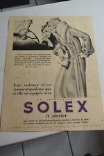 Ancienne publicité de presse - CARBURATEUR SOLEX A STARTER