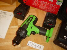 SNAP-ON TOOLS NEW 18 VOLT 1/2 MONSTER LITHIUM COMPACT CORDLESS DRILL KIT GREEN