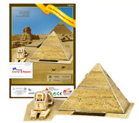 Sphinx and Great Pyramid of Giza Khufu 3D Puzzle Jigsaw Model Cairo Egypt Gift