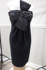 CARMEN MARC VALVO BLACK  SEQUINS BOW  DRESS SIZE 8 (DR200)