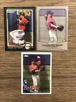 (3) 2010 Jason Heyward Rookie Lot - Topps Chrome - Bowman Chrome & Platinum