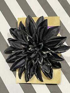 Brand New Black Purple Halloween Dahlia Clip On Flower Floral