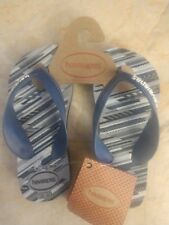 Havaianas Boys Blue, Whie, & Gray Thongs Size 9