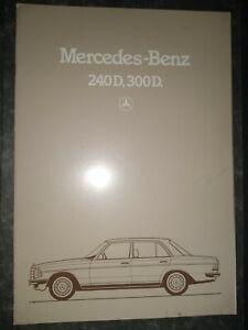 Mercedes-Benz 240D 300D Sales Brochure Sep 1983