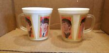 TWO VINTAGE BEATLES NEMS BURRITE PLASTIC CUP WITH SQUARE HANDLE  W/PHOTOS 1 Lot