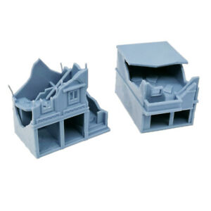 Outland Models Military Scenery Structure Destroyed City House Set B 1:144