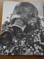 Vintage 1972 B/W Real Photograph THE HOARD OF GOLD Thought Provoking