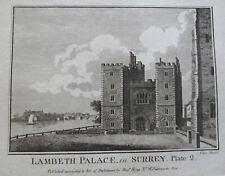 LAMBETH PALACE In SURREY -  ALEX HOGG ANTIQUE 18th C PRINT